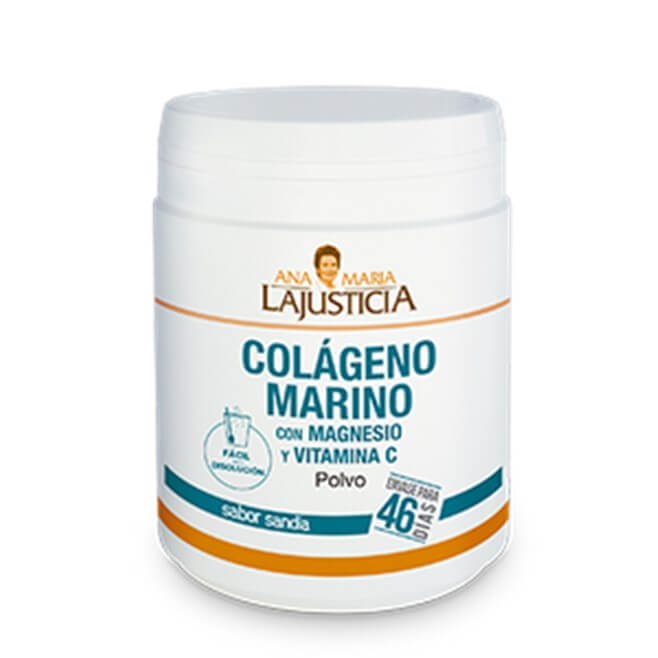 Ana Maria LaJusticia Colageno Marino Magnesio y Vitamina C Polvo Sabor Sandia 350g