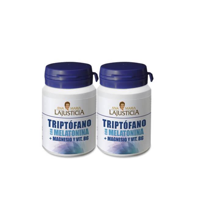 Ana Maria LaJusticia Pack Triptofano + Melatonina + Magnesio + Vit B6 Duplo 60 Cmp
