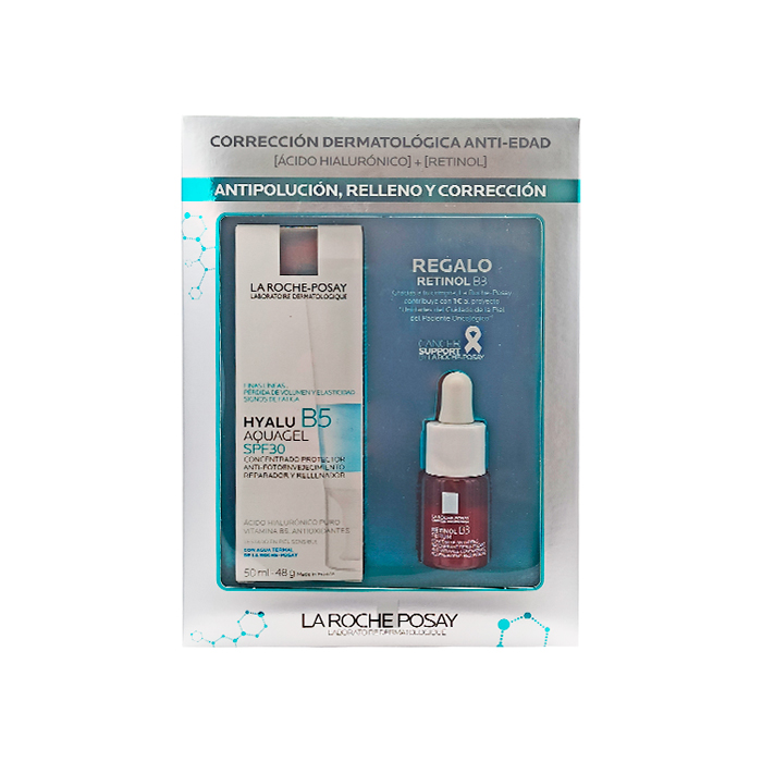 La Roche Posay Hyalu B5 Aquagel Spf30 50ml + Regalo Retinol B3 Serum 10ml