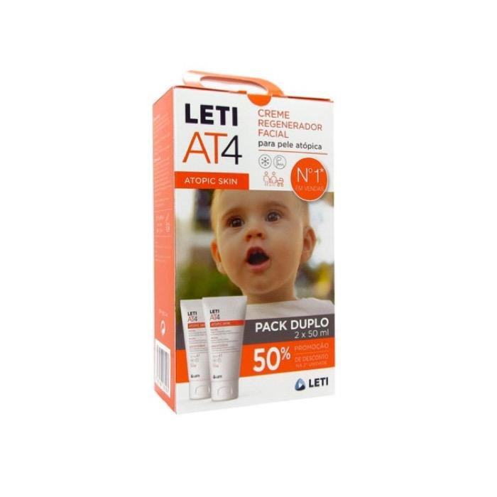 Leti at4 crema facial pack 50ml+50ml