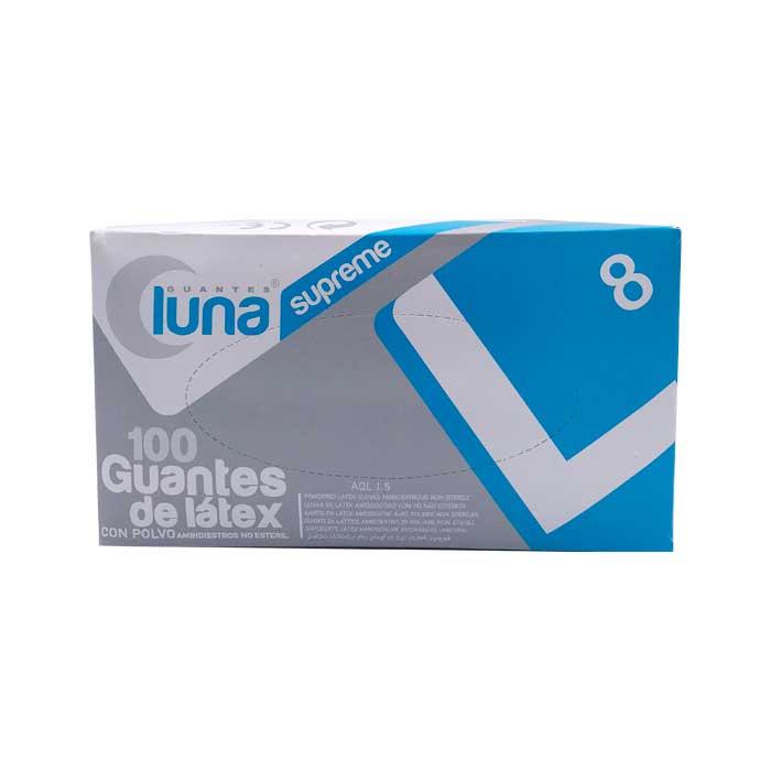 Luna Guantes Latex con Polvo Talla Grande 100uds