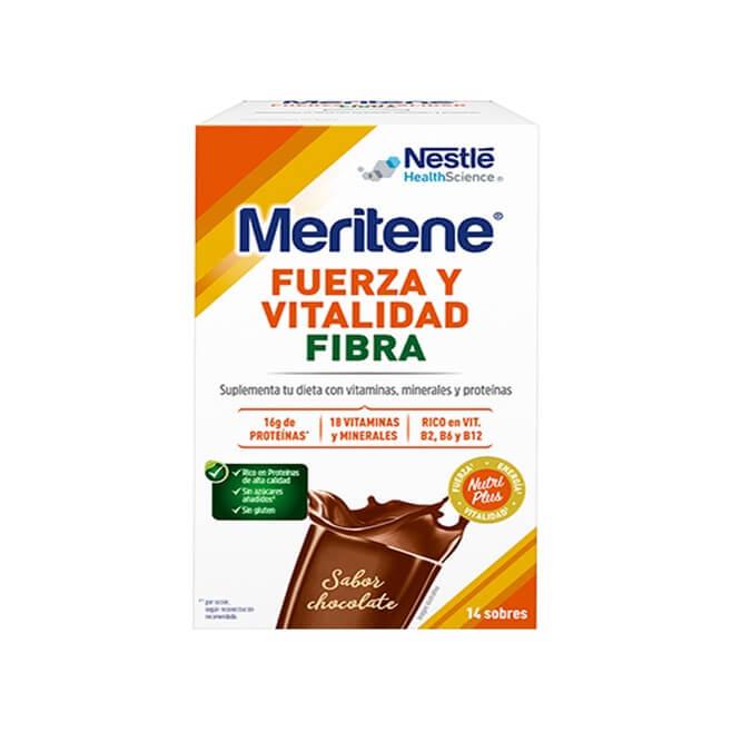Meritene Chocolate con Fibra 14 Sobres