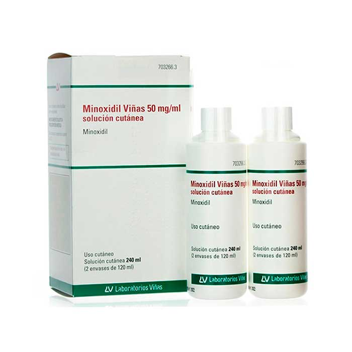 Minoxidil Viñas 50mg/ml Solucion Cutanea 2x120ml