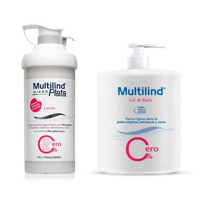 Multilind Pack Micro Plata Locion 500ml + Gel de Baño 500ml