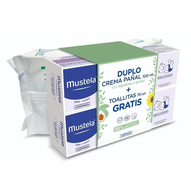 Mustela Duplo Crema Pañal 100ml + Toallitas 70 uds
