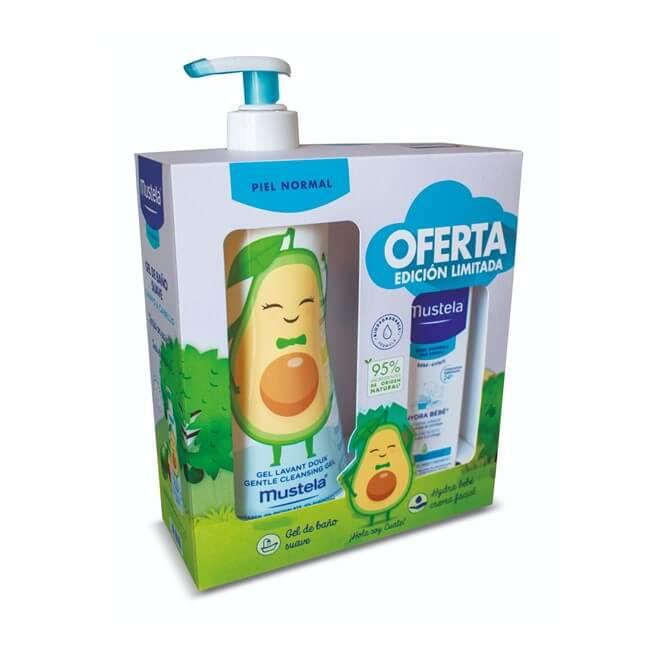 Mustela Pack Piel Normal Gel de Baño Suave 500ml + Hydra Bebe Crema Facial 40ml