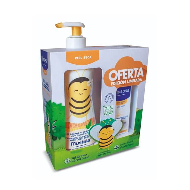 Mustela Pack Piel Seca Gel de Baño 500ml + Crema Facial 40ml