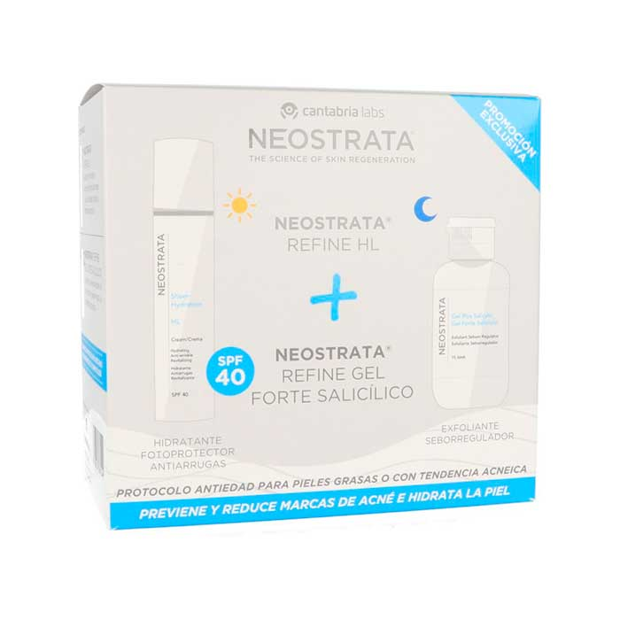 Neostrata Pack Refine Hl Spf40 50ml + Neostrata Refine Gel Forte Salicilico 100ml