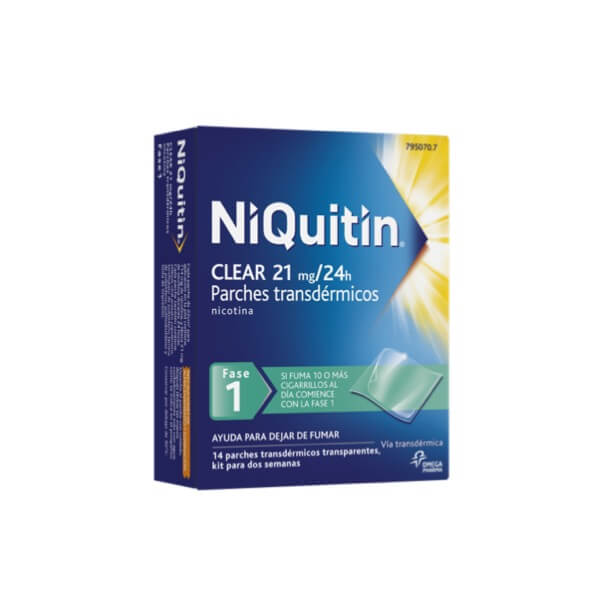 Niquitin Clear Fase 1 21mg/24h  14 Parches Transdermicos