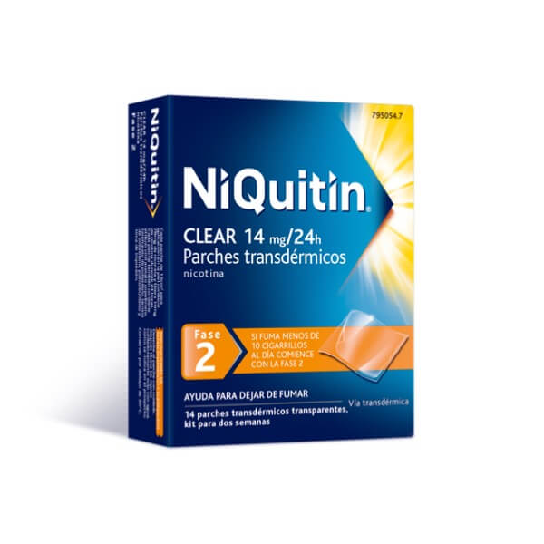 Niquitin clear fase 2 14mg/24h  14 parches transdermicos