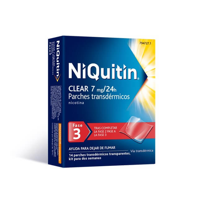 Niquitin Clear Fase 3 7mg/24h  14 Parches Transdermicos