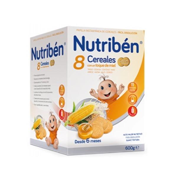 Nutriben 8 Cereales y Miel G.maria 600g