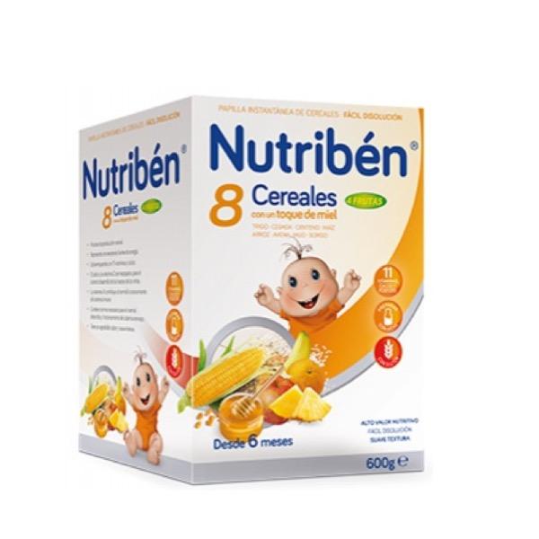 Nutriben 8 Cer y Miel Frutas 600g
