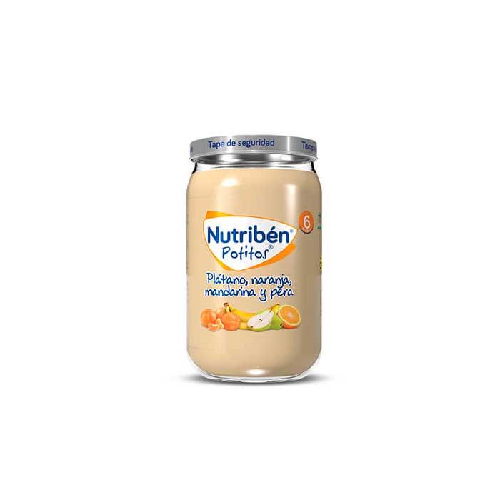 Nutriben Potitos Platano Naranja Mandarina y Pera 235g