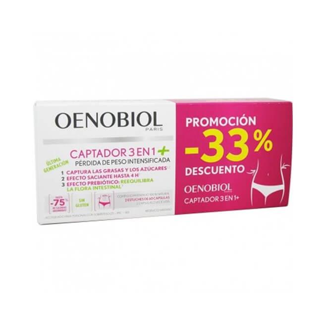 Oenobiol Captador 3 en 1 Plus Duplo 60+60 Capsulas