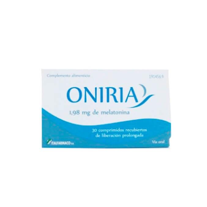 Oniria 1,98mg Melatonina 30 Comprimidos Liberacion Prolongada