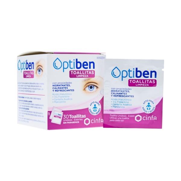 Optiben Toallitas Oculares 30 Unidades