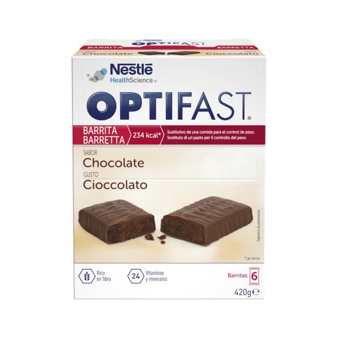 Optifast Barritas Chocolate 6 Unidades