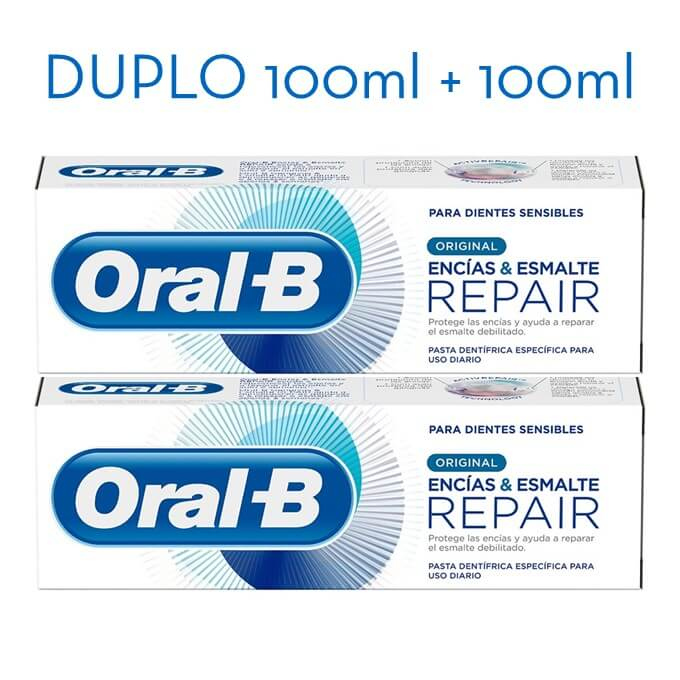 Oral-B Pasta dentifrica repair original encías&esmalte 100ml+100ml