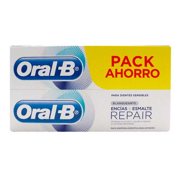 Oral-b Pasta Dentifrica Encias & Esmalte Repair Blanqueante 100ml+100ml