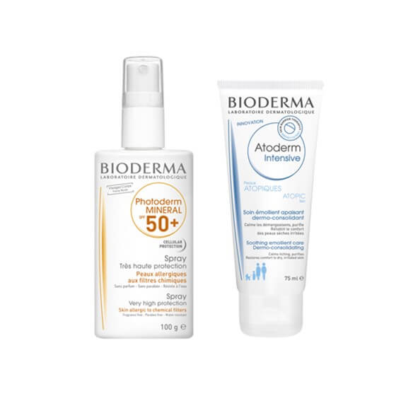 Photoderm Mineral Spray Spf50+ 100g + Atoderm Intensive Baume 75ml