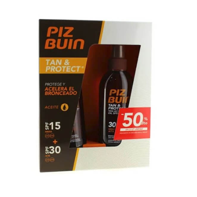 Piz Buin Pack Aceite Bronceador Spf15 150ml + Spf30 150ml