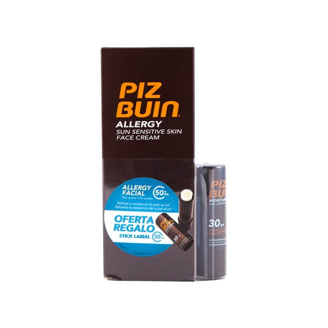 Piz Buin Allergy Crema Facial Spf50+ 50 ml + Stick Labial Spf30