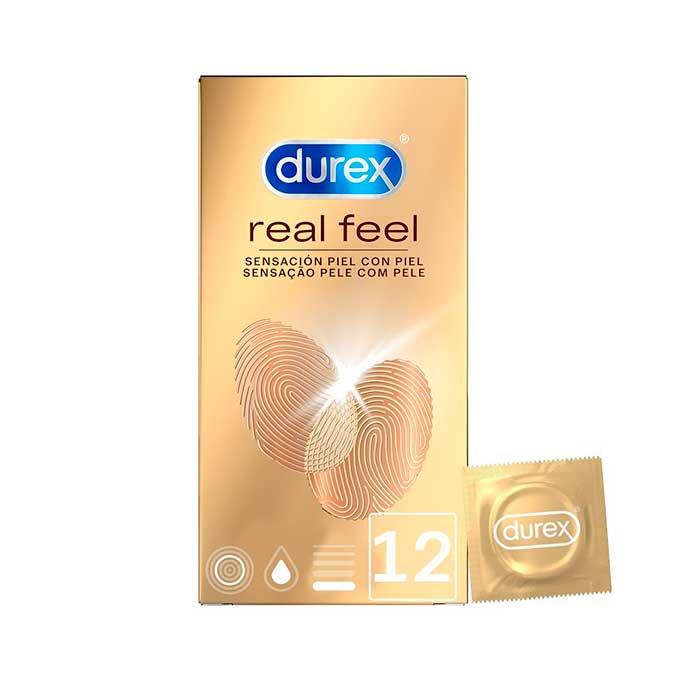 Preservativos Durex Real Feel 12u Sin Latex