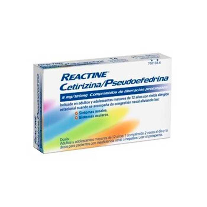 Reactine Plus 14 Comprimidos