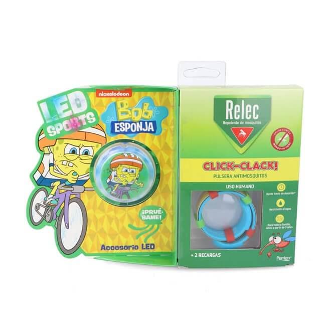 Relec Pulsera Antimosquitos Infantil Bob Esponja Ciclismo
