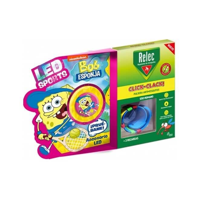 Relec Pulsera Antimosquitos Infantil Bob Esponja Tenis