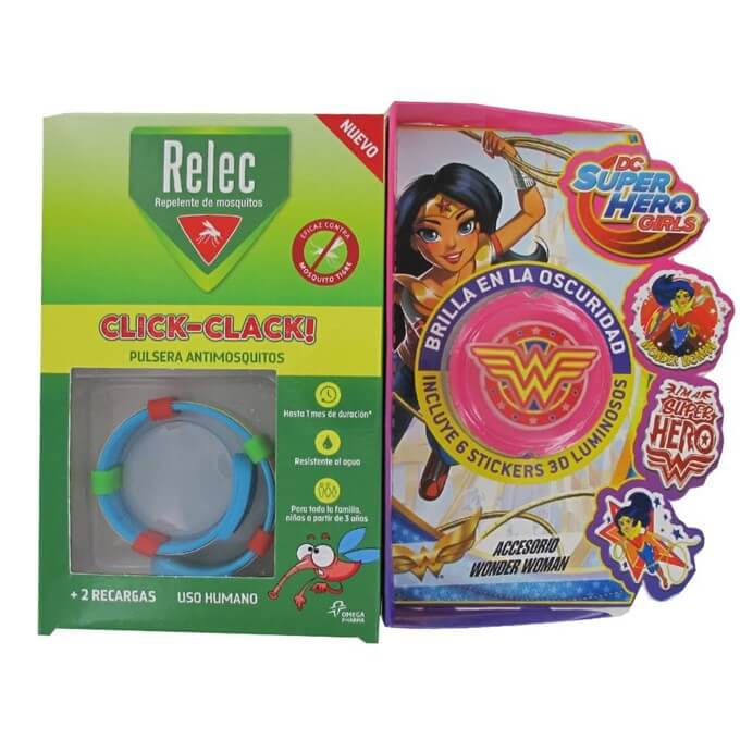 Relec Pulsera Antimosquitos Infantil Wonder Woman