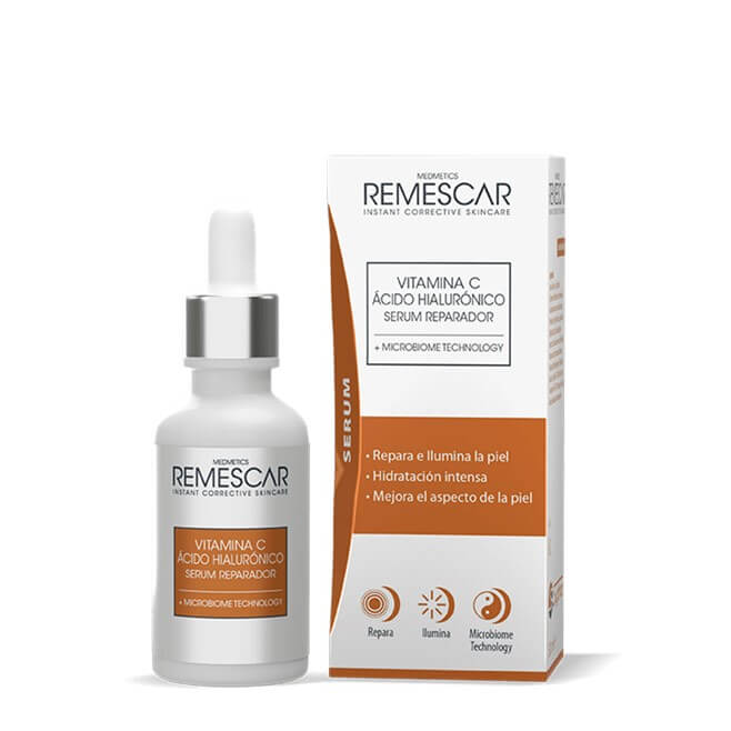 Remescar Vitamina C Acido Hialuronico Serum Reparador 30ml