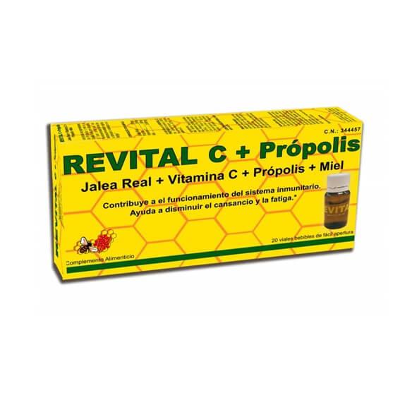Revital Vitamina C + Propolis + Jalea Real + Miel 20 Viales
