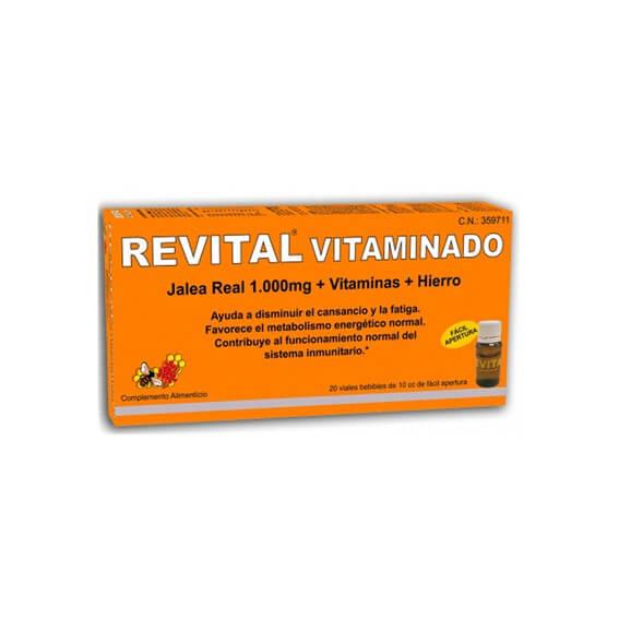 Revital Vitaminado Jalea Real + Vitaminas + Hierro 20 Viales