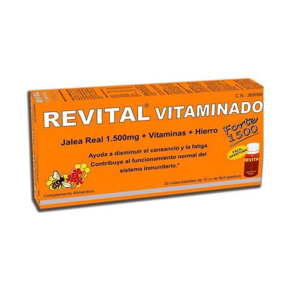 Revital Vitaminado Forte Jalea Real + Vitaminas + Hierro 20 Viales