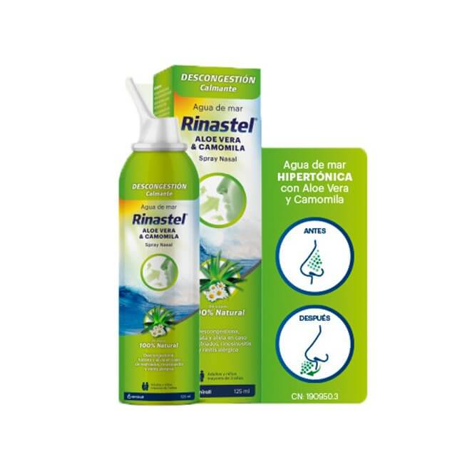 Rinastel Agua de Mar Aloe Vera & Camomila Spray Nasal 125 ml