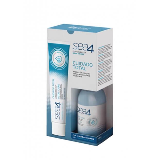 Sea4 Cuidado Total Pasta Dentifrica 75ml + Colutorio Cuidado Total 100ml