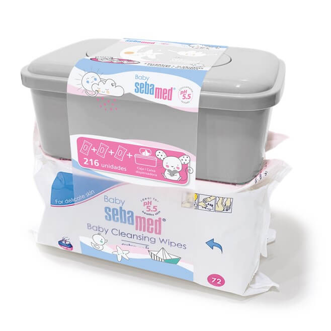 Sebamed Baby Triplo Toallitas 72 Uds + Caja Dispensadora