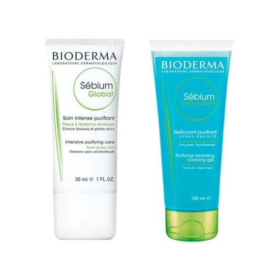 Sebium Pack Antiacne Global 30ml + Gel Moussant 100ml