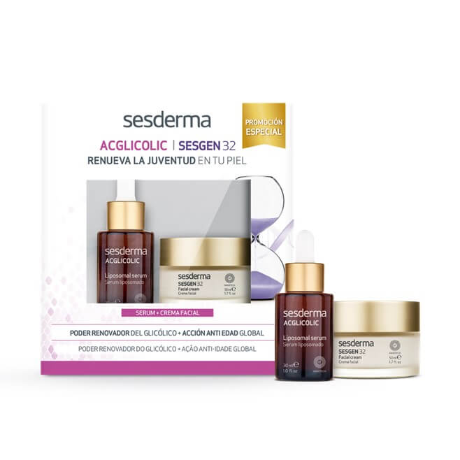 Sesderma Pack Acglicolic Serum 30ml + Sesgen 32 Crema 50ml