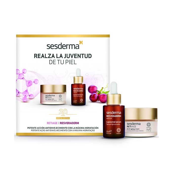 Sesderma Pack Reti Age Crema Facial Antienvejecimiento 50ml + Resveraderm Serum Antiox 30ml