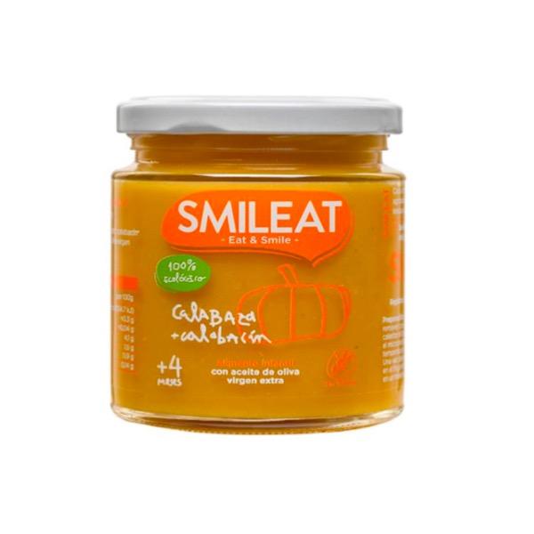 Smileat tarrito ecologico calabaza y calabacin +4m 230g