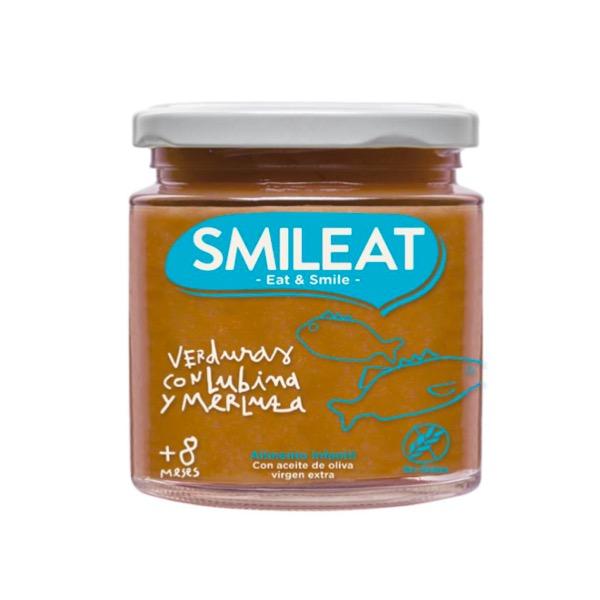 Smileat tarrito ecologico verduras con lubina y merluza +8m 230g