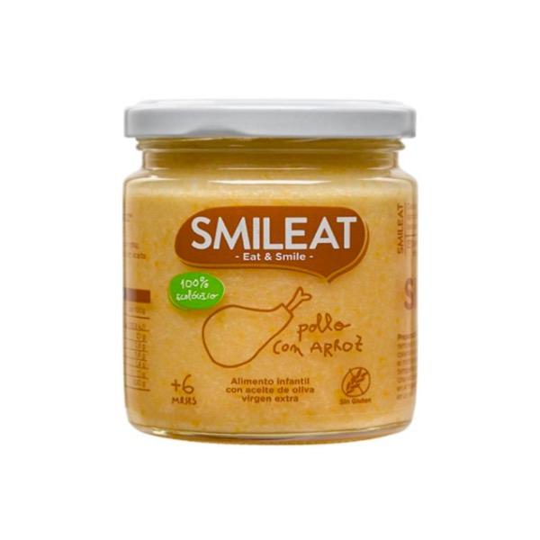 Smileat tarrito ecologico pollo con arroz +6m 230g