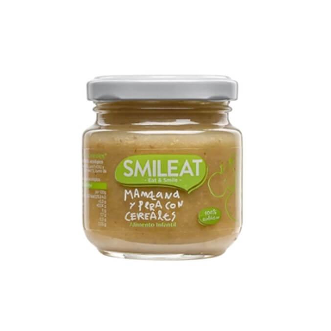Smileat tarrito ecologico manzana y pera con cereales 130g