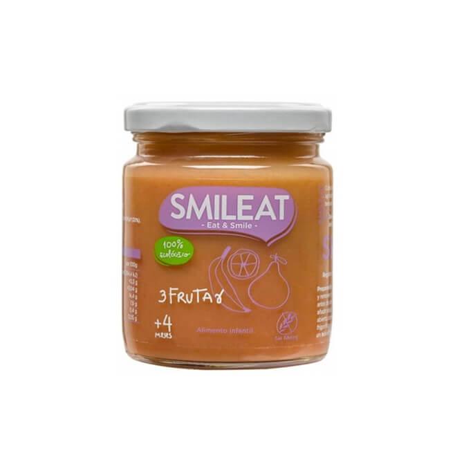 Smileat Tarrito Ecologico 3 Frutas +4m 230g