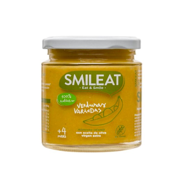 Smileat tarrito ecologico verduras variadas +4m 230g