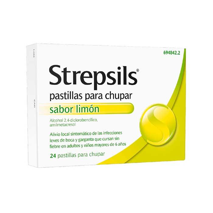 Strepsils Limon 24 Pastillas Para Chupar
