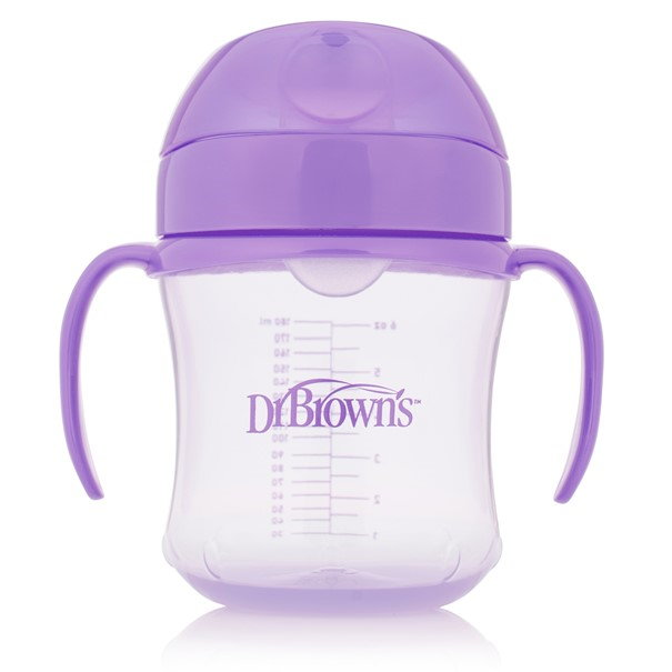 Taza Educativa Dr Brown´s 180 ml Morada